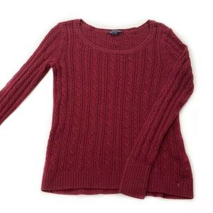 American Eagle • Cable Knit Scoop Neck Sweater